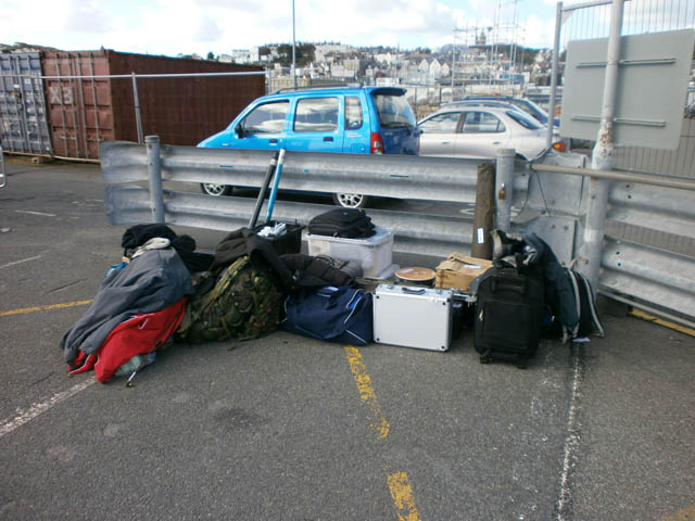 All the equipment ready to go to Herm