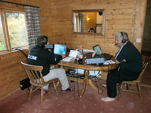Colin M1EAK working 40m and Tony G0MBA operating on 20m