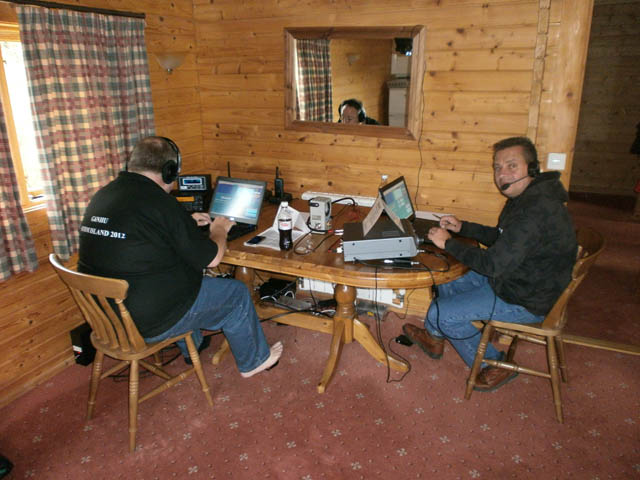 Keith G6NHU working 15m and Colin M1EAK on 20m