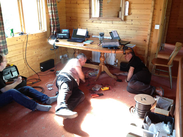 Richard, Tony and Colin assembling the two stations