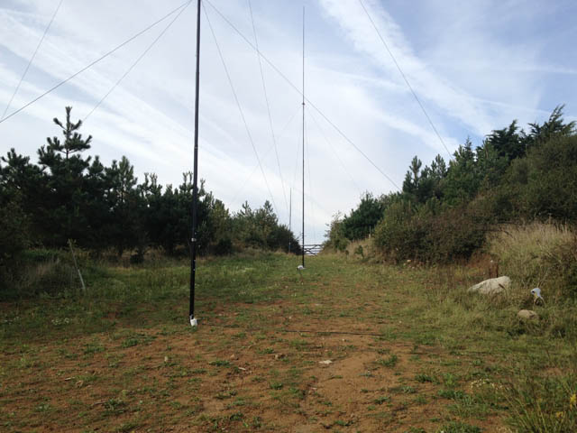 The antenna field from the bottom - 80m is closest then 40m then 20m