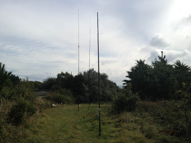 The antenna field from the top - 20m is closest then 40m then 80m