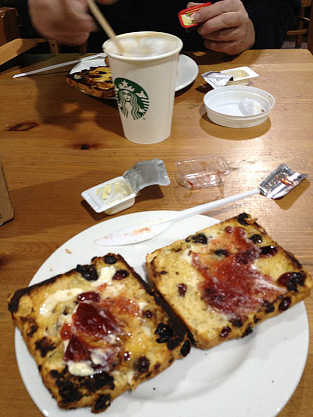 We stopped at South Mimms services for much needed coffee and cake