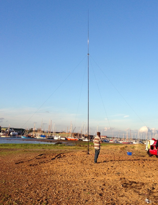 40m vertical on the beach near the Martello Tower