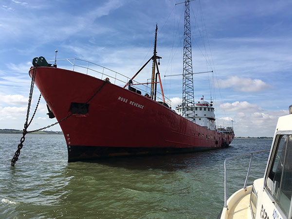 Our home for the next four days as we operated GB5RC - MV Ross Revenge, home of Radio Caroline.